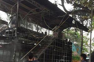 Cháy khu vui chơi công viên thiếu nhi tại Nghệ An