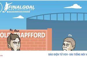 Biếm họa 24h: Hùng Dũng bị Messi nhập, Solskjaer mếu máo đón De Gea