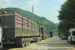 Gần 700 xe hàng nông sản vẫn nằm lại ở khu vực cửa khẩu Tân Thanh