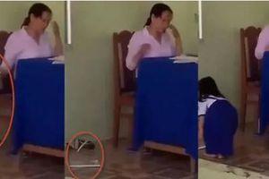 Nữ giáo viên trần tình việc ném vở xuống đất cho học sinh chạy lên nhặt