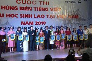 16 đội lưu học sinh Lào dự thi hùng biện bằng tiếng Việt