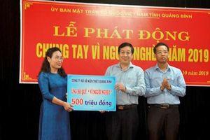 Quảng Bình: Ấm lòng tại lễ phát động 'Chung tay vì người nghèo'