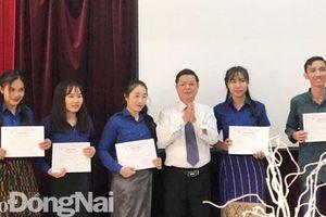 Thêm 11 lưu học sinh Lào - Campuchia học tập tại Đồng Nai