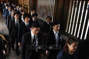 Nhóm cả trăm nghị sĩ Nhật tới viếng Đền Yasukuni