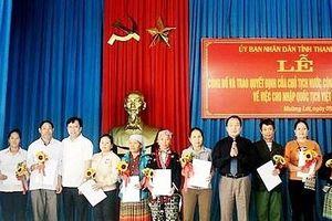 1.176 người dân di cư tự do được nhập tịch Việt Nam