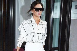 Victoria Beckham sành điệu ra phố với trang phục tự thiết kế