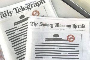 Báo Australia bôi đen trang nhất, phản đối chính phủ mật hóa thông tin