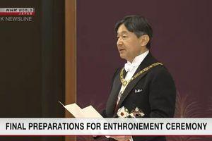 Nhật Bản chuẩn bị cho lễ đăng quang của Nhật hoàng