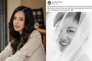 Văn Mai Hương khoe ảnh cưới, Mai Phương Thúy và loạt sao đua nhau chúc mừng
