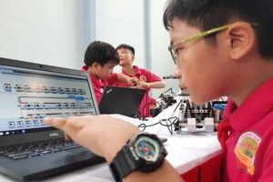 Gần 100 'kỹ sư robot' nhí sáng tạo tại Ngày hội Robothon 2019