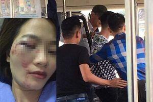 Nhắc nhở chửi bậy, nữ phụ xe buýt bị 4 thanh niên đánh hội đồng