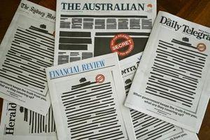 Báo Australia đồng loạt bôi đen trang nhất để phản đối chính phủ