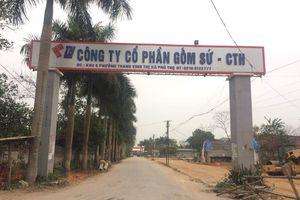 Gốm sứ Thanh Hà phủ nhận liên quan nhóm nghi phạm đổ dầu thải 'đầu độc' nước sông Đà