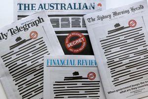 Báo giới Australia đồng loạt bôi đen trang nhất phản đối chính phủ