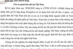 Xe Trung Quốc bán tại Việt Nam phải tháo gỡ bản đồ có 'đường lưỡi bò'