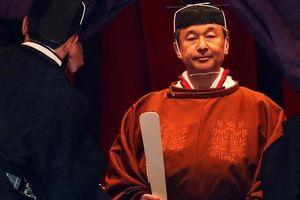 Toàn cảnh Nhật hoàng Naruhito lên ngôi trong cơn mưa trút nước