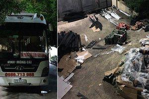 CSGT Quảng Ninh phát hiện xe khách vận chuyển nhiều vũ khí 'nóng'