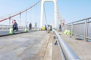 Đà Nẵng: Sửa chữa cầu dây võng dài nhất Việt Nam