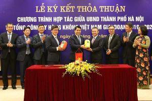 Hà Nội hợp tác với Việt Nam Airlines quảng bá du lịch Thủ đô ra toàn thế giới