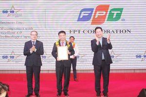 FPT được vinh danh Top 10 doanh nghiệp có năng lực công nghệ 4.0 tiêu biểu tại Việt Nam