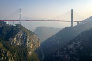 Cầu Bắc Bàn Giang cao nhất thế giới của Trung Quốc trông ra sao?