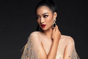 Kiều Loan 'chơi trội', diện jumpsuit khoe đường cong ở Hoa hậu Hòa bình