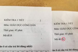 Cười nghiêng ngả với cách đặt tên mã đề độc đáo của giáo viên