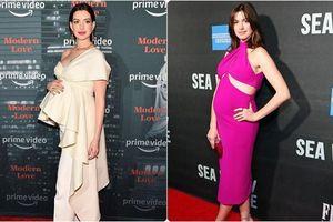 Không hổ danh là người đàn bà đẹp của Hollywood, mang thai sắp sinh nhưng Anne Hathaway vẫn 'đẹp không góc chết'