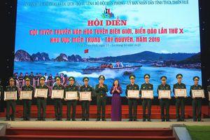 Bế mạc Hội diễn Đội tuyên truyền biên giới, biển đảo khu vực miền Trung- Tây Nguyên