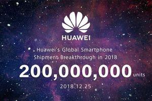 Huawei cán mốc 200 triệu chiếc smartphone đã được bán ra trong năm 2019