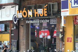 Nhiều cửa hàng Món Huế ngưng hoạt động