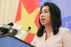 Việt Nam lên tiếng về việc nhóm tàu Hải Dương 8 rời khỏi vùng đặc quyền kinh tế, thềm lục địa Việt Nam