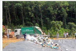 Bãi rác Tam Xuân 2 hoạt động trở lại sau hơn 3 tháng bị gián đoạn