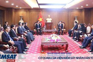 Viện trưởng VKSND tối cao tiếp Đoàn đại biểu nước CHDCND Lào