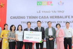 Quỹ Herbalife Nutrition hỗ trợ dinh dưỡng cho hơn 500 học sinh trường Phổ thông cơ sở Xã Đàn