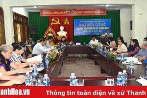 Đại hội Chi hội Nghệ sỹ Sân khấu Việt Nam tại Thanh Hóa