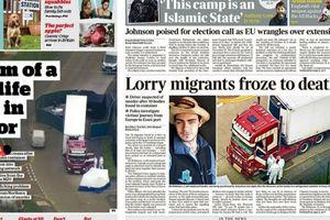 39 người chết trong xe container là bi kịch tồi tệ bậc nhất nước Anh