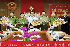 Công an Hà Tĩnh trao thưởng các lực lượng phá nhiều chuyên án ma túy lớn