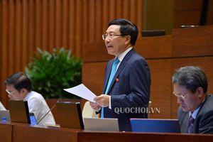 Phó Thủ tướng Phạm Bình Minh báo cáo trước Quốc hội vấn đề Biển Đông