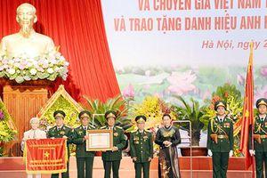Quân tình nguyện và Chuyên gia Việt Nam tại Lào nhận Danh hiệu Anh hùng lực lượng vũ trang