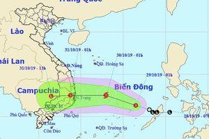 Áp thấp nhiệt đới mạnh lên thành bão, đổ bộ Bình Định-Ninh Thuận vào ngày mai 30/10