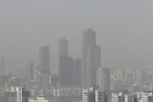 Hàn Quốc ban bố cảnh báo về tình trạng bụi mịn trong không khí