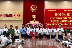 Quảng Ninh ký kết chương trình 'Cảnh sát biển đồng hành với ngư dân'