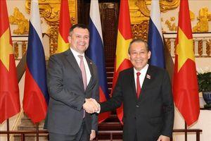 Phó Thủ tướng Thường trực Trương Hòa Bình tiếp Phó Thủ tướng Liên bang Nga Maxim Akimov