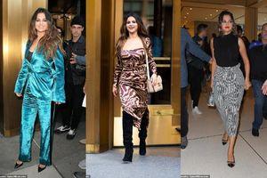 Selena Gomez xinh tươi 'hớn hở' thay xoành xoạch 4 bộ đồ trong một ngày