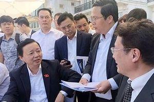 Bộ trưởng Trần Hồng Hà thị sát, đánh giá khu thí điểm lọc nước Hồ Tây