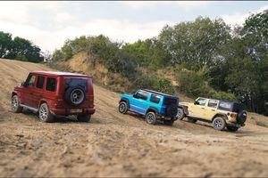 Màn so tài offroad của Mercedes-AMG G63, Suzuki Jimny và Jeep Wrangler