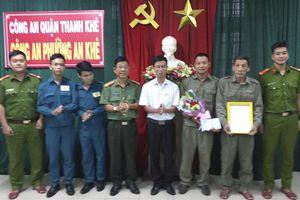 Khen thưởng đột xuất thành tích của tổ tuần tra 8394 CAP An Khê