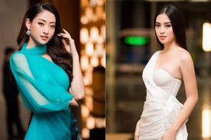 Tiểu Vy, Lương Thùy Linh đẹp 'bất phân thắng bại' với váy cắt xẻ gợi cảm