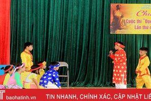 Thí sinh 'nhí' ở Xuân Phổ thi chung kết 'Đọc thuộc Truyện Kiều'